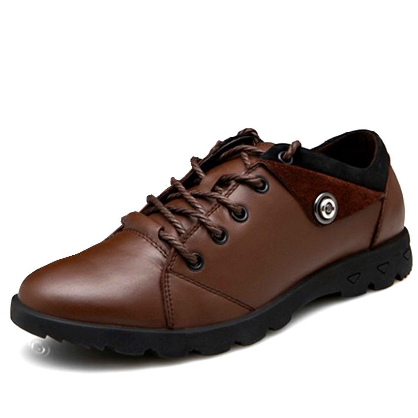 耐宾真皮板鞋 男商务休闲鞋 男士系带牛皮鞋男棉鞋透气驾车男鞋子